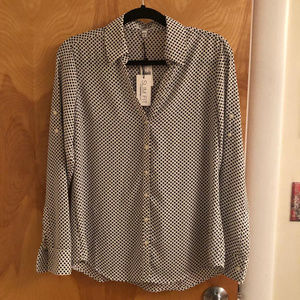 Black and White Polkadot Portofino Shirt